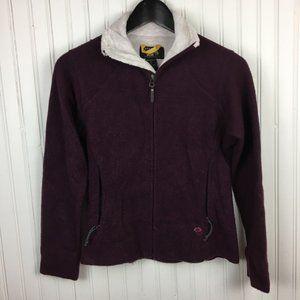 Mountain Hardwear Wool Blend Zip Up Sweater Jacket